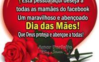 Mensagem para postar no facebook no dia das mães