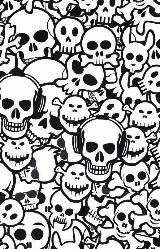 Wallpapers para celular de caveiras tenebrosas